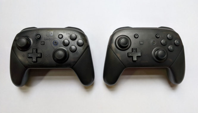Fake Nintendo Switch Pro Controller Comparison