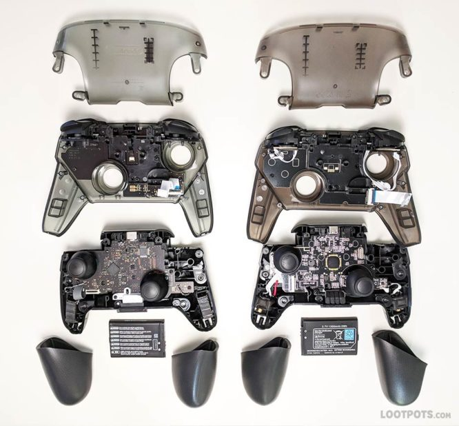 Internal comparison of fake Switch Pro Controller