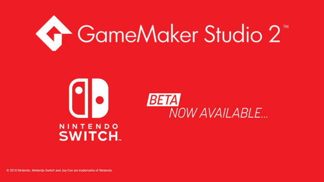 GameMaker Studio 2 Switch Beta
