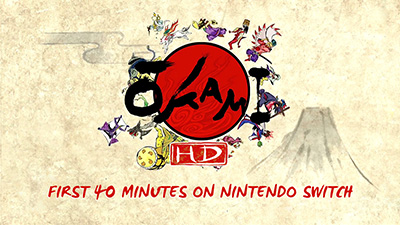 Okami HD Switch Gameplay - First 40 Minutes (Docked) Video