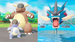 Pokemon Let's Go Mega Evolution Kangaskhan and Gyarados