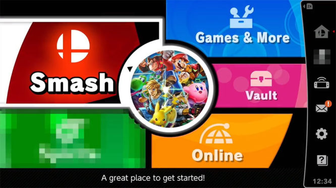 SUper Smash Bros Ultimate Main Menu