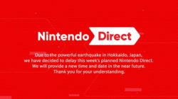 Nintendo Direct September delayed due to earthquake