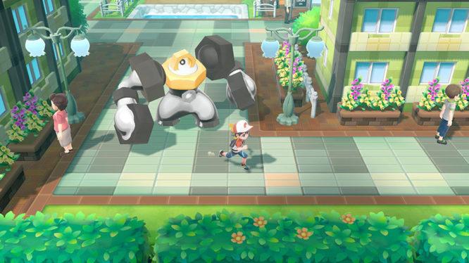 Melmetal following in Pokemon Let's Go