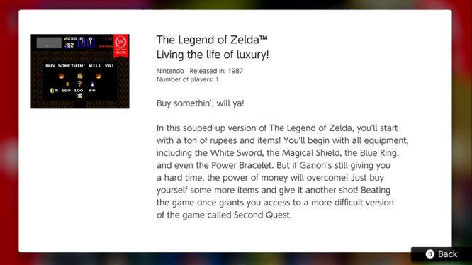 Living the life of luxury - Zelda NES Nintendo Switch