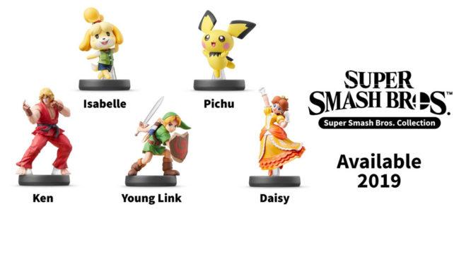 Super Smash Bros amiibo ken isabelle pichu young link daisy