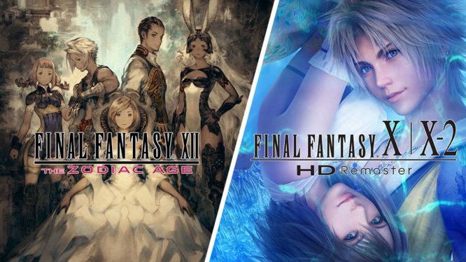 Final Fantasy XII: The Zodiac Age and FInal Fantasy X / X-2 HD Remaster Nintendo Switch
