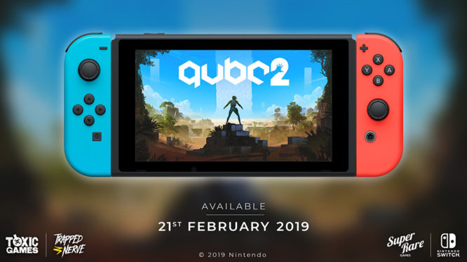 QUBE 2 Nintendo Switch Announcement Poster