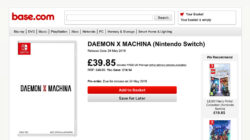 Daemon X Machina release leak 24th May 2019