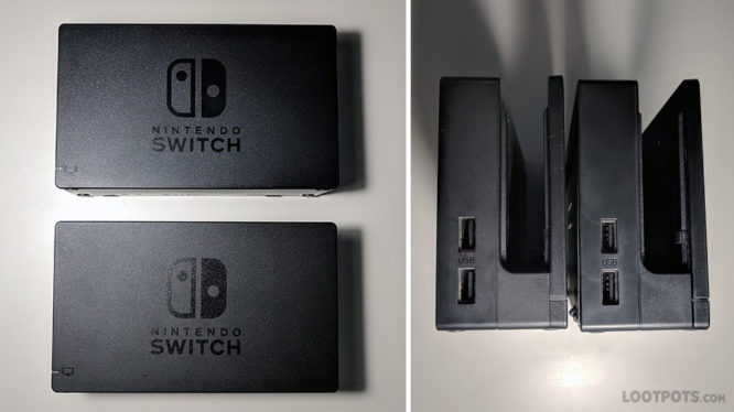 Fake Switch Dock External Comparison