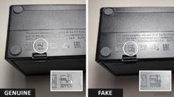 Fake Nintendo Switch Dock Markings Comparison
