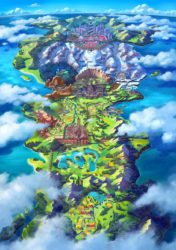 Pokemon Galar Region Map