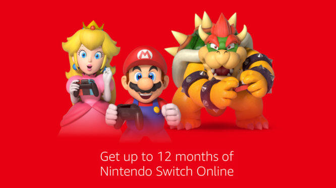 Get up to 12 months of Nintendo Switch Online