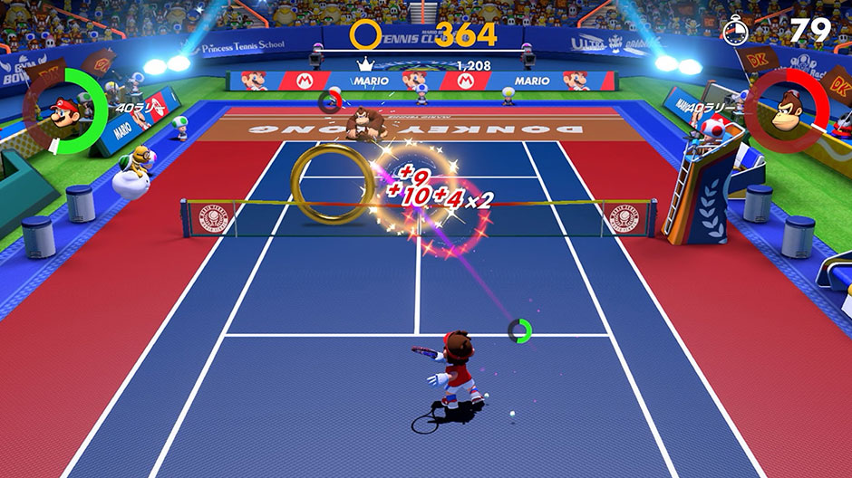 The new Ringshot Mode in Mario Tennis Aces 3.0