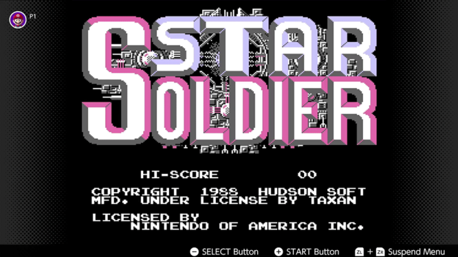 Star Soldier Switch NES Game