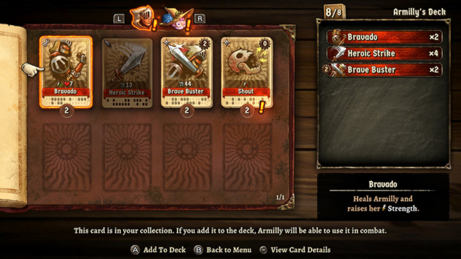 SteamWorld Quest Card Collection Screenshot