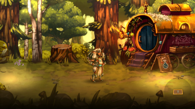 Exploring a Chapter in SteamWorld Quest