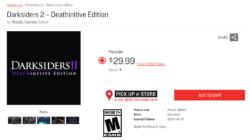Darksiders II Nintendo Switch leak EB Games