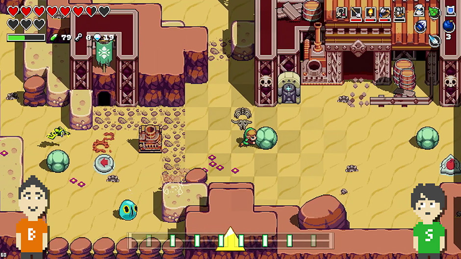 Cadence of Hyrule - First look at the game's UI