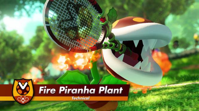 Piranha Plant playable character Mario Tennis Aces