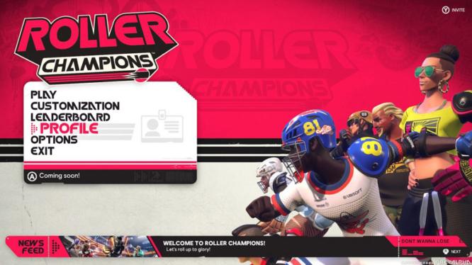 Roller Champions Menu