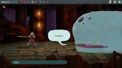 SLay the Spire screenshot showing the player talking to whale