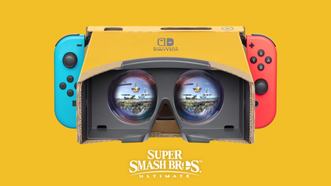Super Smash Bros Ultimate VR Mode through Labo Headset
