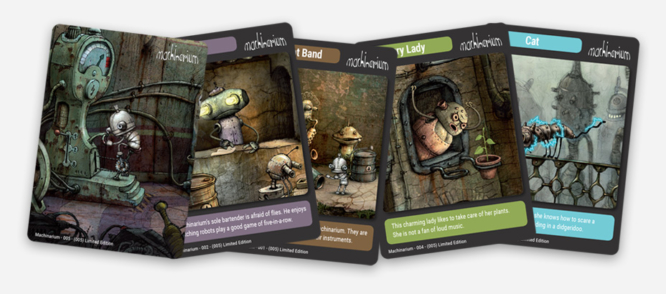 Machinarium trading cards