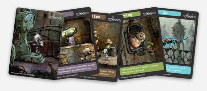 Machinarium trading cards