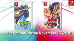 Pokémon Sword and Shield Box Art and Release Date
