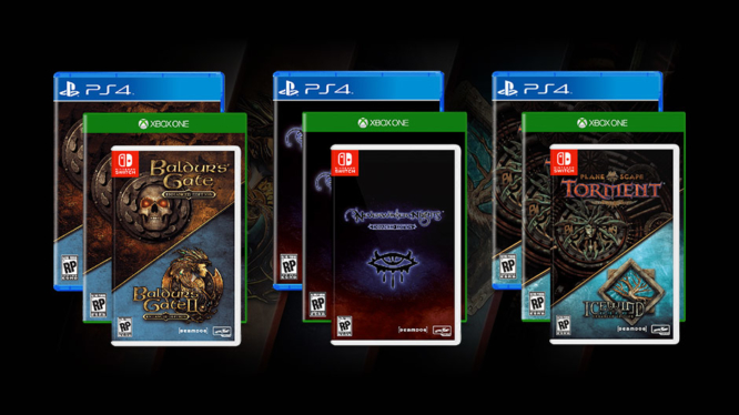 BALDUR'S GATE, PLANESCAPE: TORMENT, ICEWIND DALE, AND NEVERWINTER NIGHTS ON NINTENDO SWITCH
