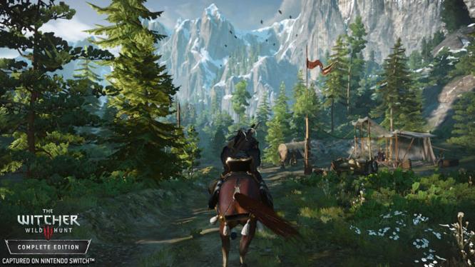 The Witcher 3: Wild Hunt running on Nintendo Switch