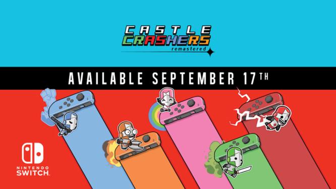 Castle Crashers Remastered crashes onto Nintendo Switch this