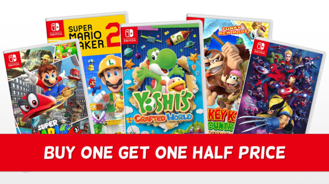 Nintendo Switch Game Offer - Buy one get one half price