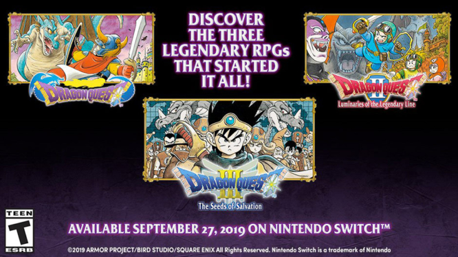 Dragon Quest 1, 2, 3 for Nintendo Switch