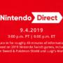 Nintendo Direct September 4th 2019