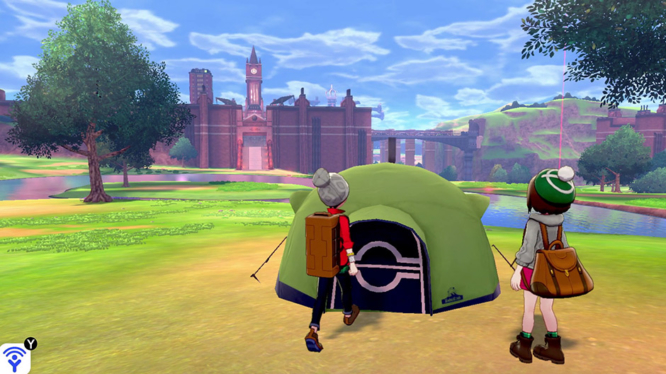 Pokemon Camp in Pokemon Sword and Shield