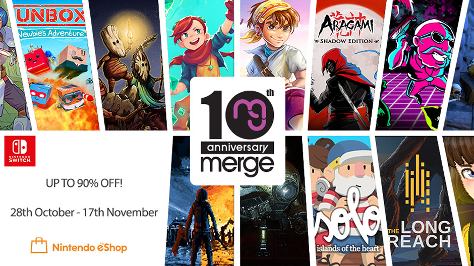 Merge 10th Anniversary Sale for Nintendo Switch