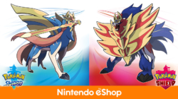 Pokemon Sword and Shield eShop listing file size Europe