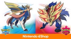 Pokemon Sword and Shield eShop listing file size Europe