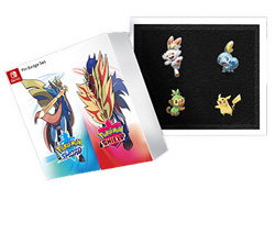 Pokemon Sword and Shield Pin Badge Set London Poke Center