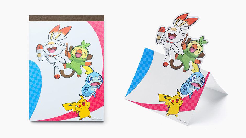 Pokemon Sword and Shield Memo Notepad Standing