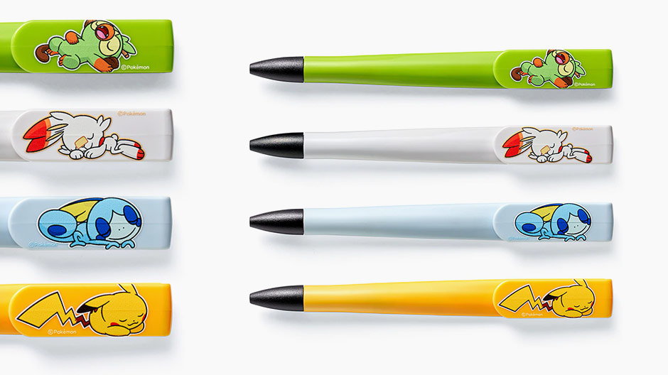 Pokemon Sword and Shield Ballpoint Pens featuring starters
