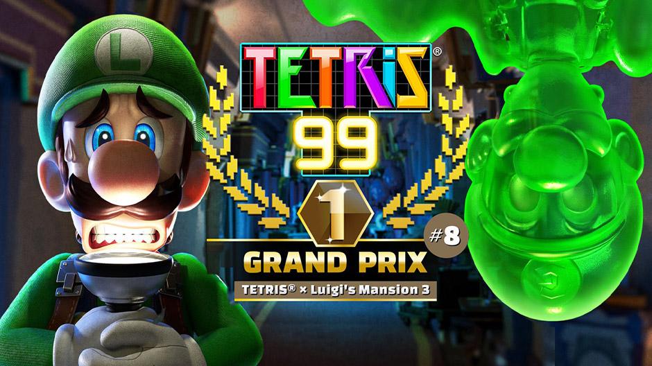 Tetris 99 Luigi's Masnion crossover cup