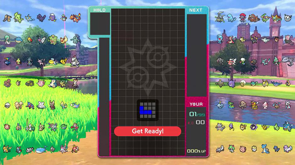 Tetris 99 Pokemon Sword and Shield theme