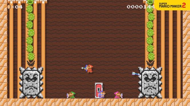 Super Mario Maker 2 Four Links from Zelda