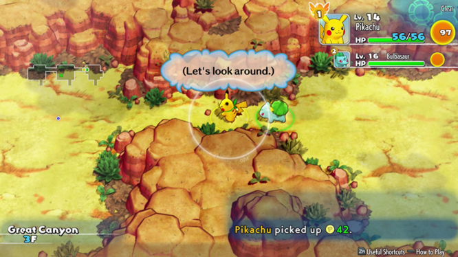 Explore Mystery Dungeons packed with Pokémon to battles