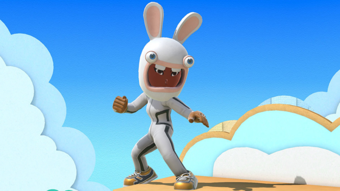 Mii Fighter with Rabbids hat