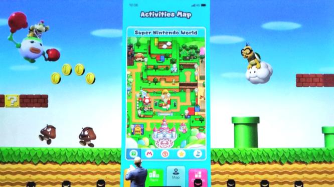 Super Nintendo World App Activities Map