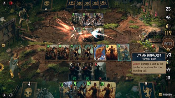 Thronebreaker Gwent card battle